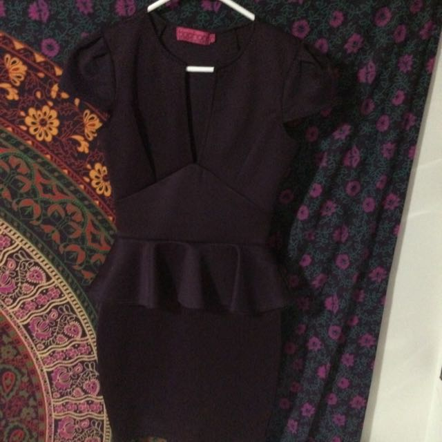 Purple Boohoo Dress Size Uk 8