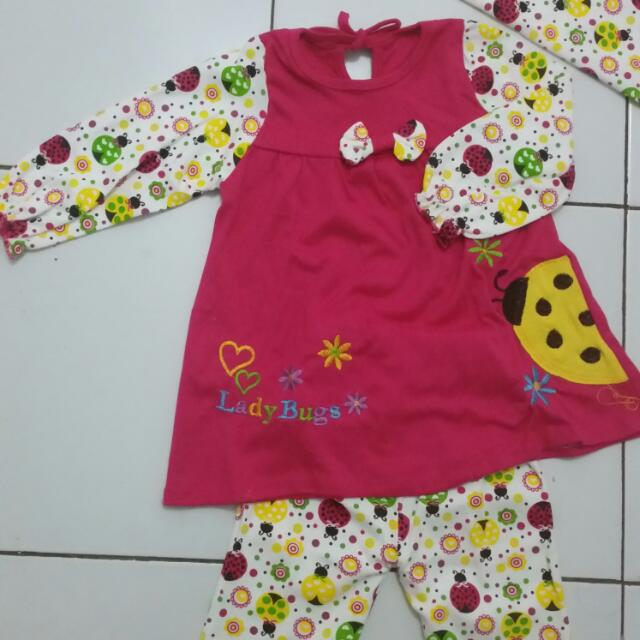 Setelan Muslim Lady Bug Sz 1th
