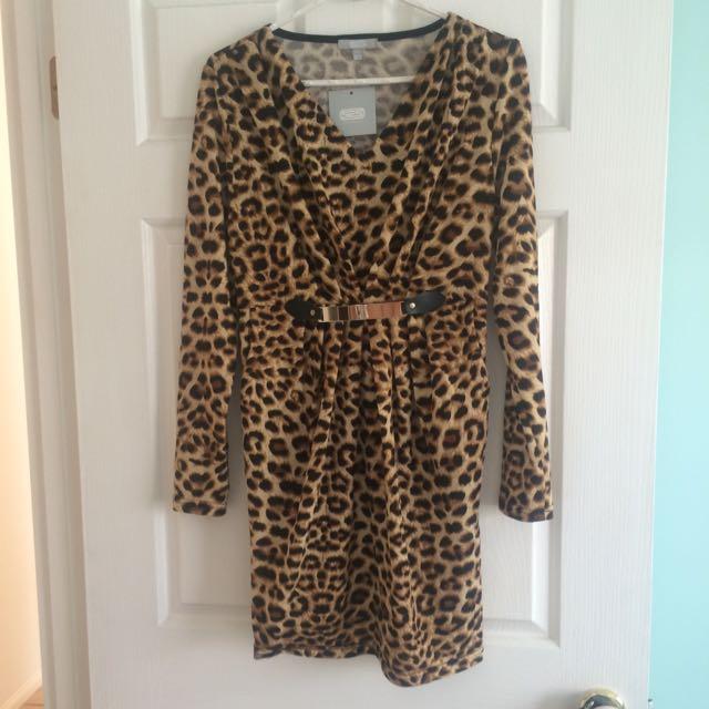 Size 12 Leopard Dress