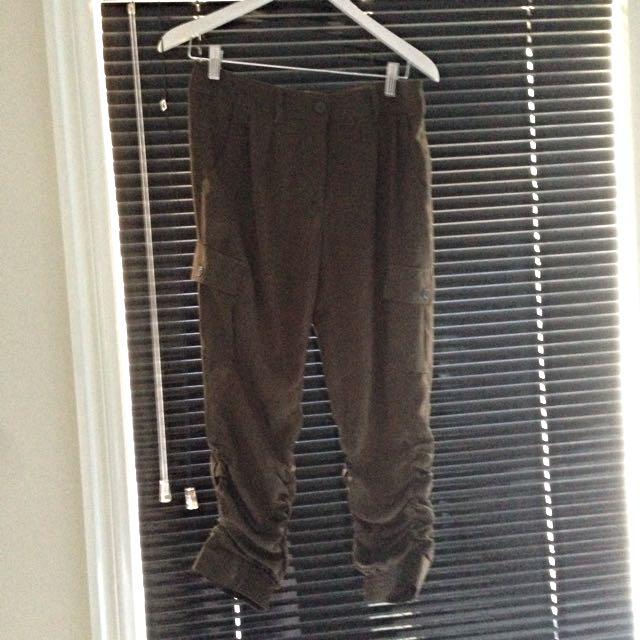 Size 8 Khaki Cargo Style pants