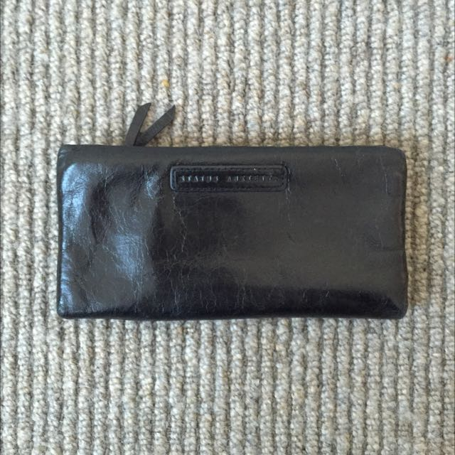 Status Anxiety Wallet | Black Leather
