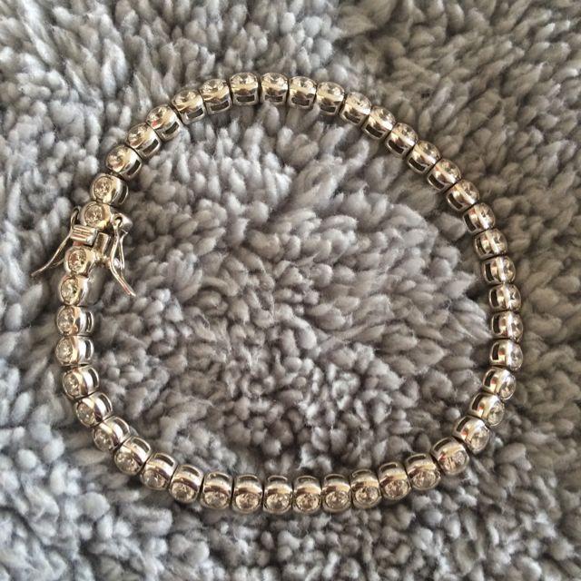 ❤️Stirling Silver Cubic Zirconia Bracelet