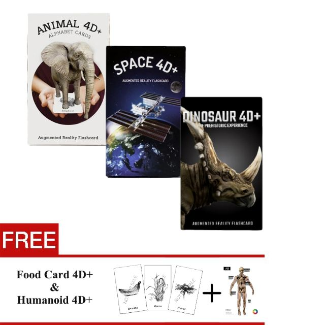 [Super Value Set] Flash Card Animal & Space & Dinosaur 4D by Octagon Studio, Babies & Kids on Carousell
