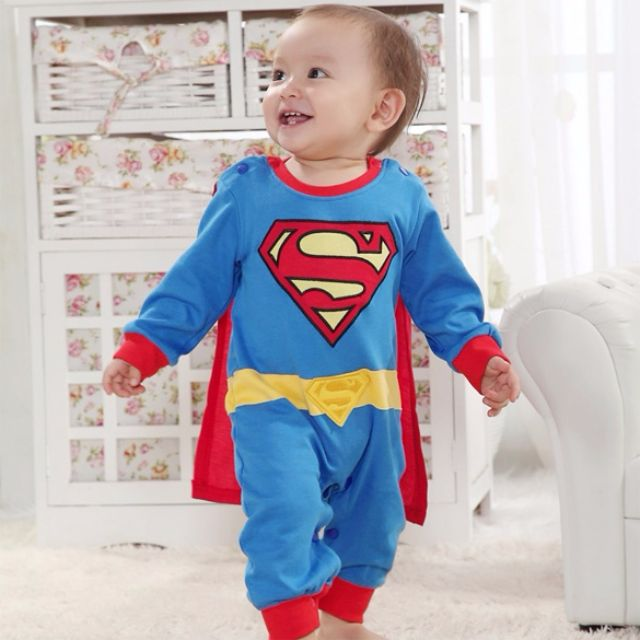 cfd5c9579 Superman Suit Fancy Costume Jumpsuit for Baby Toddler Kid Boy Romper Gift,  Babies & Kids on Carousell