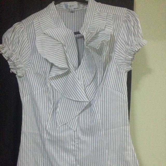 White Striped Business Shirt