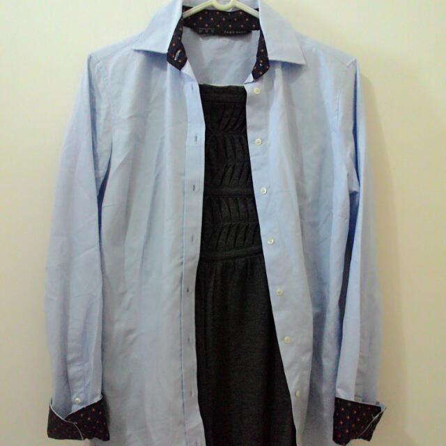 Zara天藍襯衫