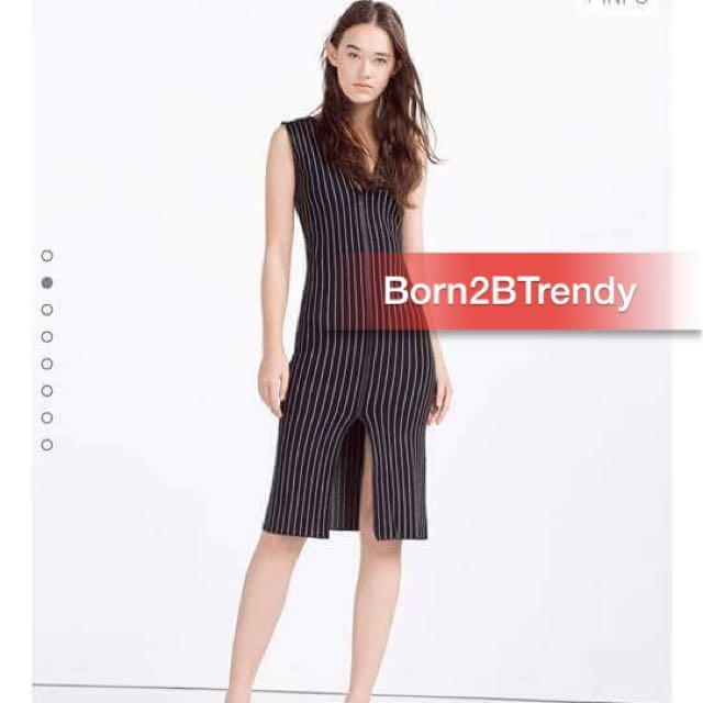 Zara Woollen Stripe Dress