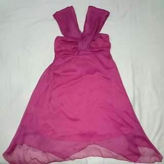 Pink (Rouge) Cocktail Dress