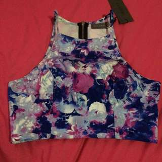 Indikah Floral Crop Top