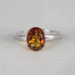 925純銀 黃水晶戒指(11月誕生石)