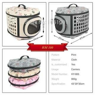 Bag carrier for your cats  Anda nampak lebih bergaya  Dan si comel anda lebih selesa    Pilihan Warna Pink / Yellow / Grey