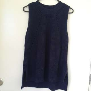 Blue Woolen Top