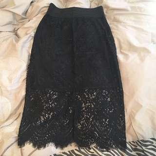 Lace Midi Skirt BNWT