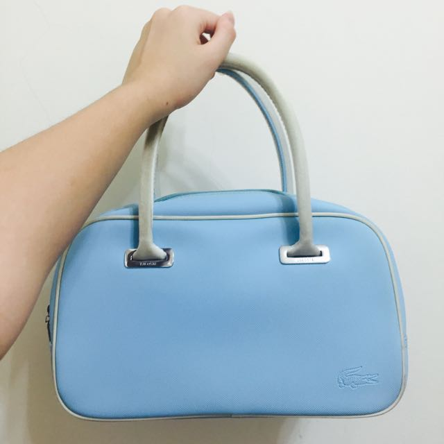 (🐾二手)$500含運 Lacoste 水藍色挺版手提包