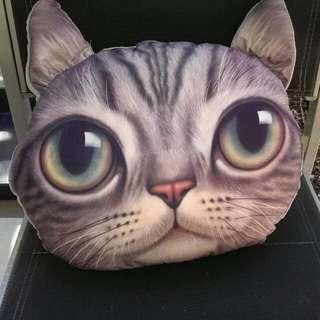 Cat Head Pillow