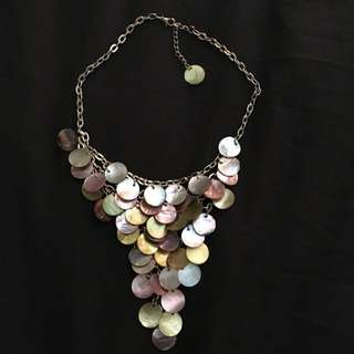 Handmade Multi Colored Shells Necklace