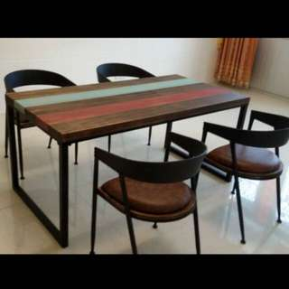 Unique Scandi/industrial Theme Dining Table