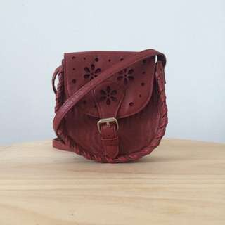 Red Saddle Bag