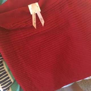 Red ally Mini Skirt