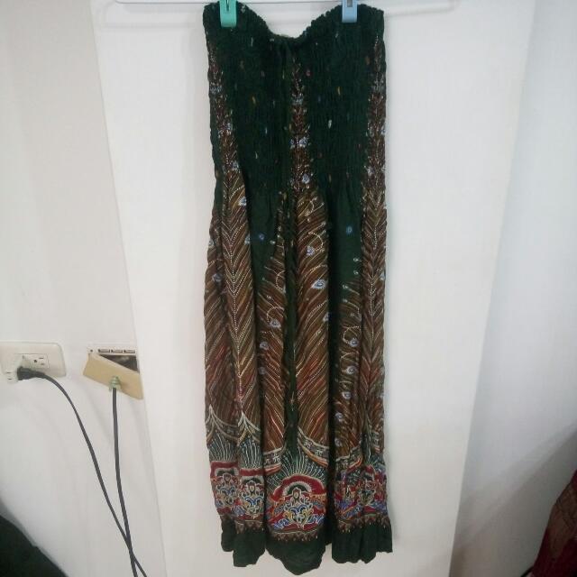 民族風裙子$100