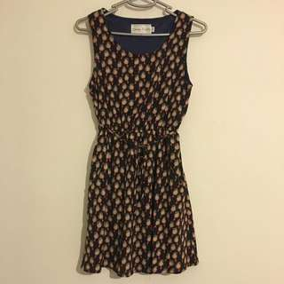 Dress With Cute Bird Print