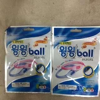 韓國製WingWing Ball 天然長效精油防蚊矽膠手環粉紅(兒童)兩入