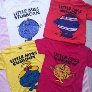 Mr. Men And Little Miss短袖上衣t恤