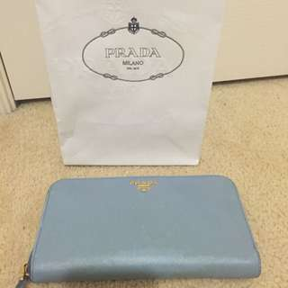 Prada Continental Zip Wallet
