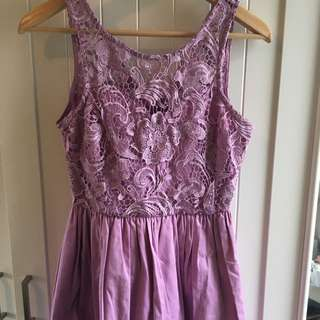 Lilac Lace Bust Dress