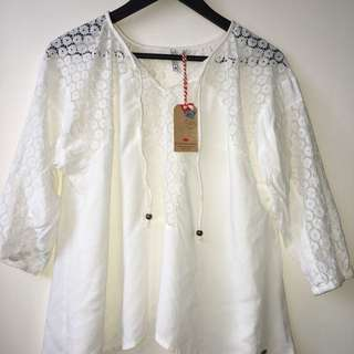 Lee cooper ▪️bohemian top in white