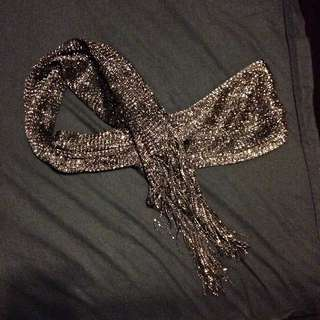 Jeans West Scarf With Gold Threading