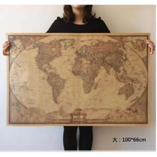 national geography vintage world map