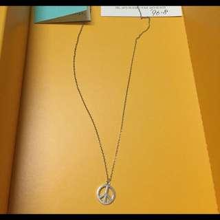 🚚 保證正品 已絕版Tiffany&Co 和平標誌項鍊