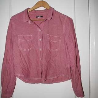 BDG Pink Button Up