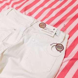白色 破壞 顯瘦 牛仔長褲