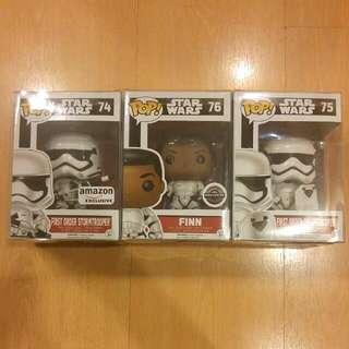 Funko Pop Star Wars Force Awakens Finn Stormtrooper Bundle