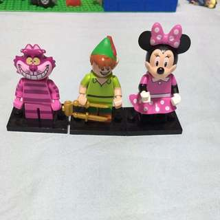 $15 Lego Minifigures!!! Cheshire Cat, Robin Hood And Minnie Mouse!