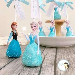 《歡迎預訂》冰雪奇緣 艾莎Elsa 雪寶 安娜Anna 布朗尼蛋糕棒棒糖。生日蛋糕 婚禮小物 二次進場 派對點心