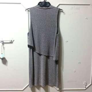 不對稱雙層洋裝(含運)-Urban Outfitters