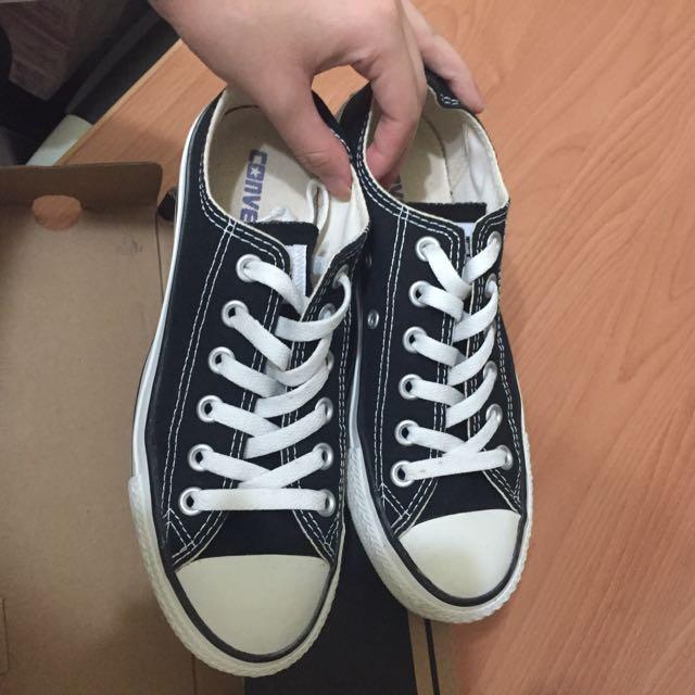 (🐾二手)$500含運 converse黑色低筒經典鞋 23.5