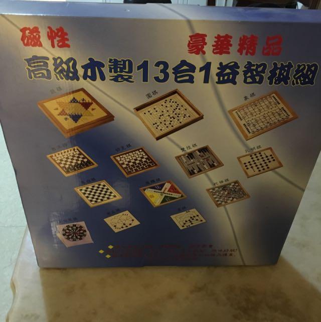 桌遊 棋類益智遊戲 13合1 (磁性)