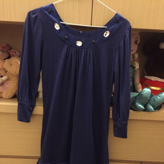 日貨寶藍色洋裝