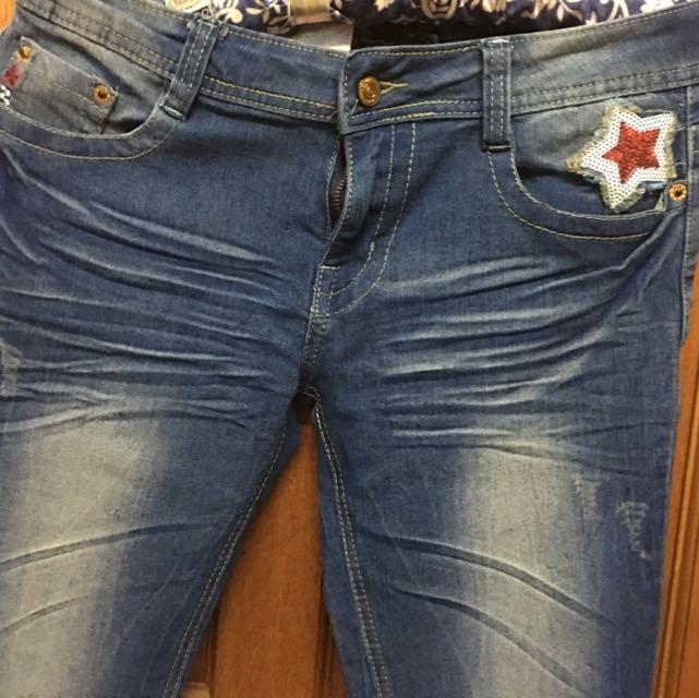 超強出清•*•刷色牛仔喇叭褲