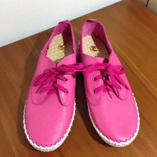 編織糖果鞋 桃紅色