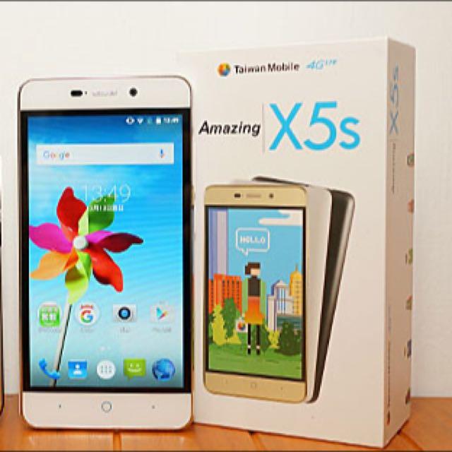 (保留至5/20)全新 手機📱 台灣大哥大品牌 Amazing X5s白色