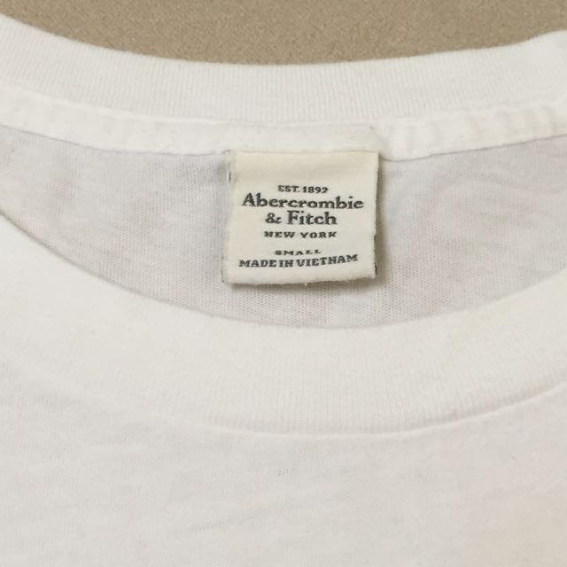 Abercrombie&Fitch A&F 白色花朵印花短Tee T-shirt