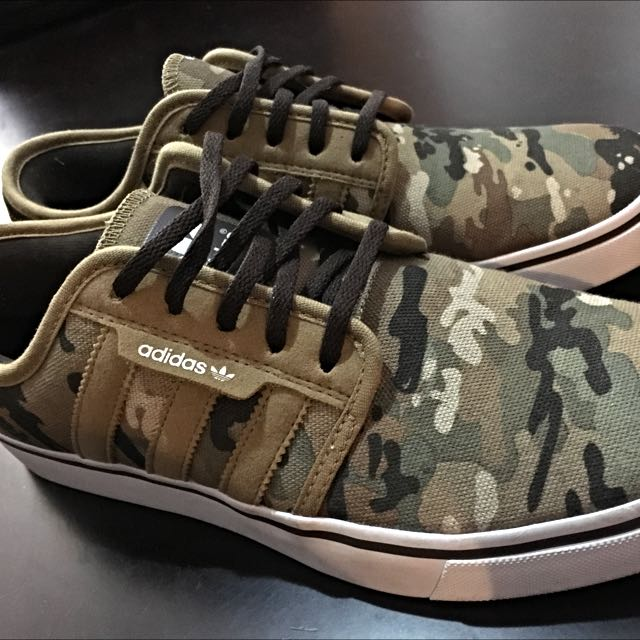 Adidas camo print low sneakers