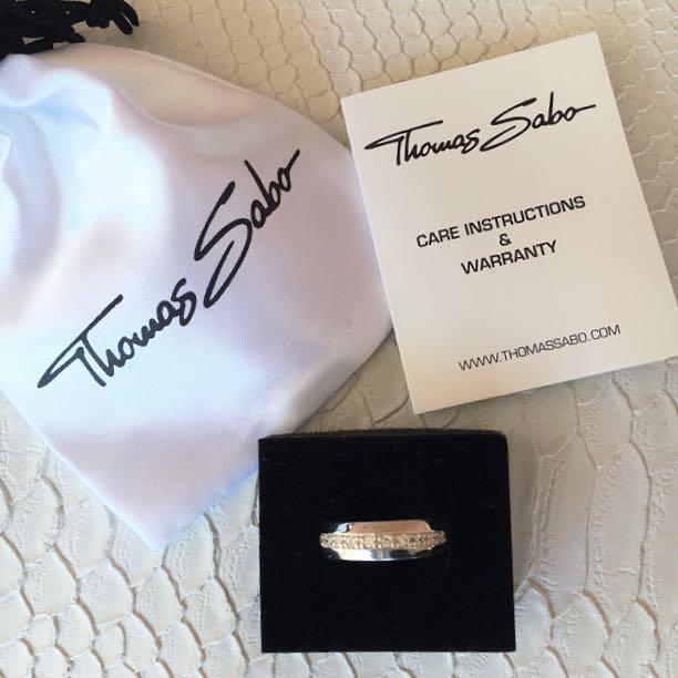 AUTHENTIC Thomas Sabo CZ Ring