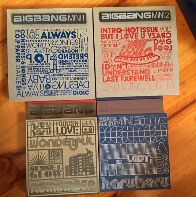 Big Bang Vol. 1-4 Mini Album
