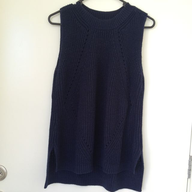 Blue Woolen Top